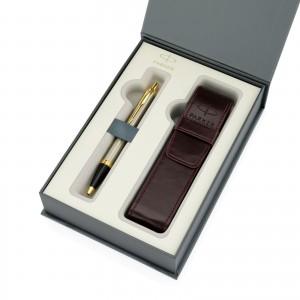 długopis z grawerem parker w pudełku na prezent dla oficera parker brushed