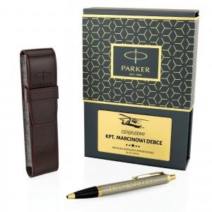 parker długopis z grawerem w etui na prezent dla żołnierza parker brushed
