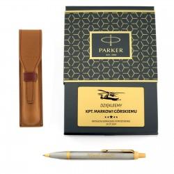Spersonalizowany prezent dla wojskowego ekskluzywny długopis i etui Parker