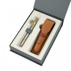 długopis i etui w eleganckim pudełku prezentowy Parker