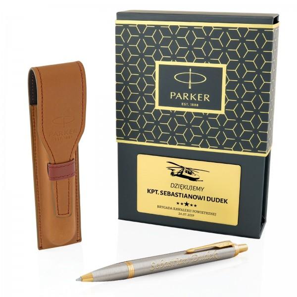 długopis Parker z personalizacją i etui na prezent dla wojskowego