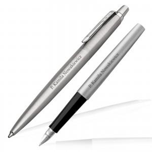 zestaw pióro i długopis parker z grawerem na elegancki prezent dla szefowej