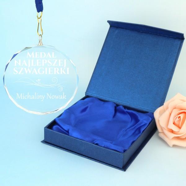 medal pamiątkowy z grawerem na prezent dla szwagierki miano najlepszej