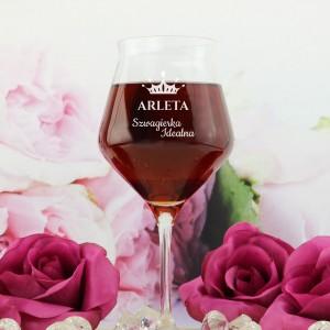 co kupić szwagierce na urodziny grawerowany kieliszek do wina idealna szwagierka