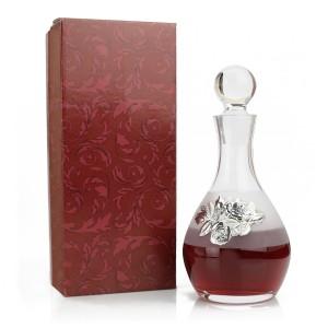 karafka do wina ze srebrną różą na wyjątkowy prezent