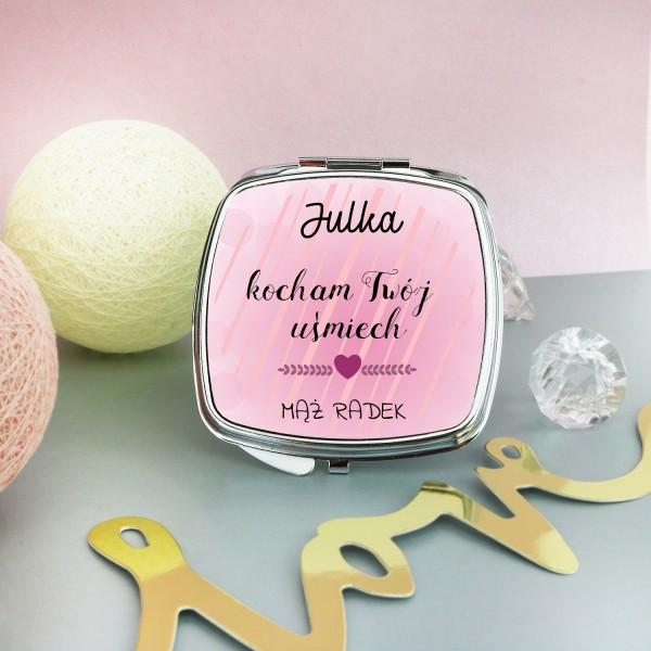 lusterko kosmetyczne z dedykacją na prezent dla żony