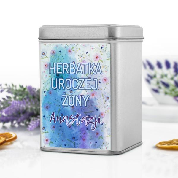 pudełko na herbatę z personalizacją na prezent dla żony