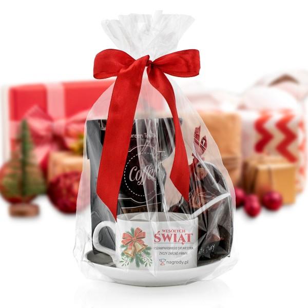 świąteczny zestaw prezentowy dla pracownika z czekoladą