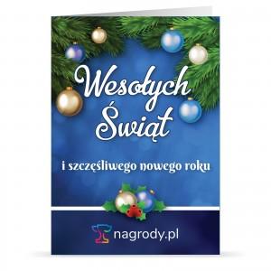 spersonalizowana kartka świąteczna na prezent dla klienta