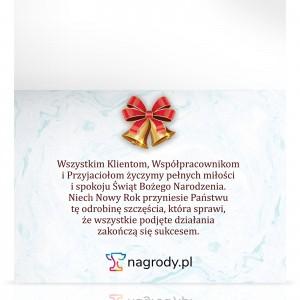 kartka z życzeniami na prezent dla kontrahenta na święta