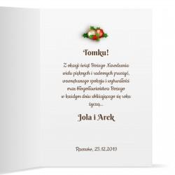 kartka z życzeniami na boże narodzenie na prezent dla przyjaciela