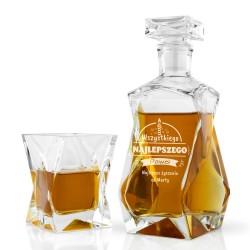 karafka do whisky ze szklanką na prezent dla chłopaka na urodziny