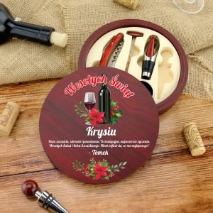 na prezent na święta zestaw akcesoriów do wina - Grzaniec z czekoladą i przyprawą