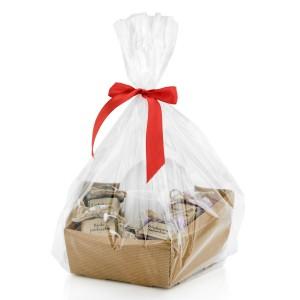 zestaw filiżanka i konfitury na prezent na święta dla niej w zestawie - Owocowe love w opakowaniu prezentowym