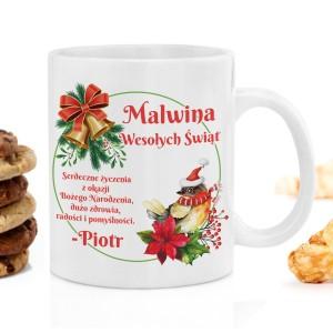 kubek z nadrukiem z zestawu - Herbaciana Kraina na świąteczny upominek dla niej