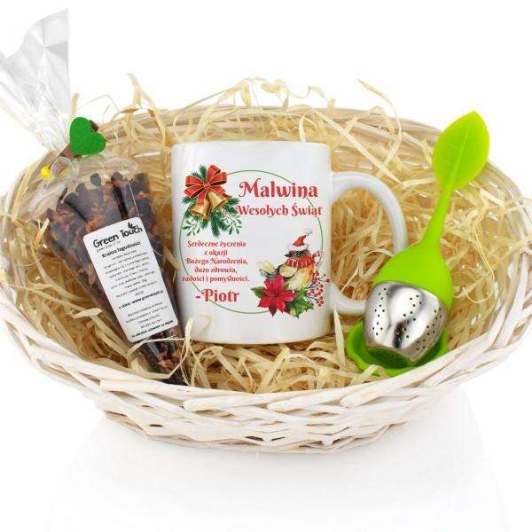 na prezent świąteczny dla niej zestaw kubek i herbata - Herbaciana Kraina