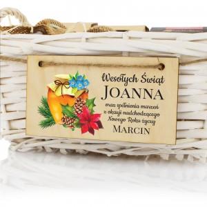 nadruk personalizacji na świątecznym zestawie herbat z dodatkami - Miodowa Kraina na upominek dla niej