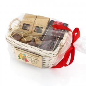 na upominek dla niej świąteczny zestaw herbat z dodatkami - Miodowa Kraina w opakowaniu prezentowym