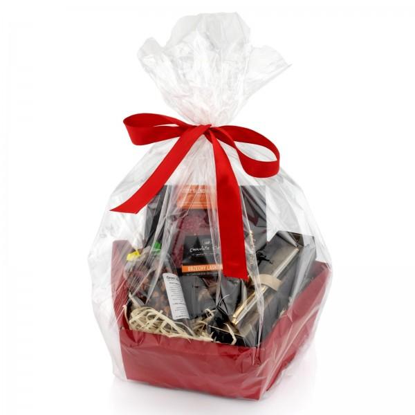 na upominek dla niego zestaw prezentowy z okazji świąt - Blask Dnia w opakowaniu prezentowym Z celofanu
