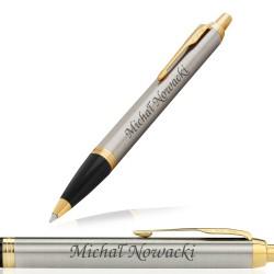 długopis Parker z grawerem w świątecznym koszu prezentowym - Czekoladowy Dotyk na prezent dla męża
