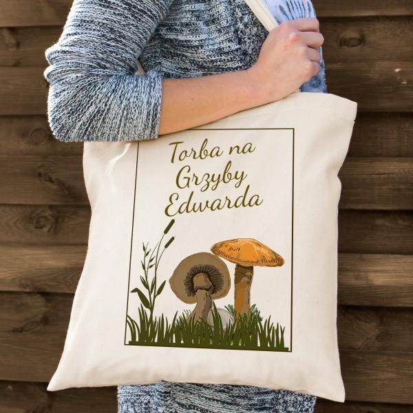 na prezent dla grzybiarza torba bawełniana z nadrukiem - Rudy Rydz