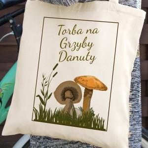 torba bawełniana z nadrukiem - Rudy Rydz na upominek dla grzybiarza