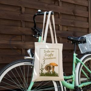 na upominek dla miłośnika grzybobrania torba bawełniana z nadrukiem - Rudy Rydz