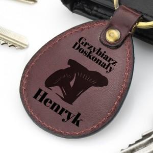 brelok do kluczy z grawerem na prezent dla grzybiarza - Kozak na prezent dla niego