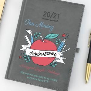 na upominek dla polonistki kalendarz nauczyciela 2020/2020 z nadrukiem - Siłaczka