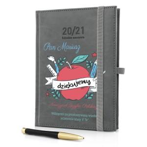 na prezent dla nauczycielki języka polskiego kalendarz nauczyciela 2020/2021 z nadrukiem - Siłaczka
