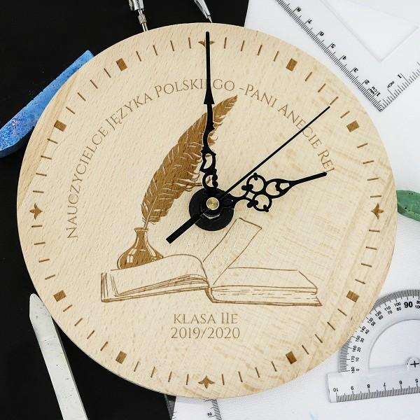 prezent dla nauczyciela polskiego zegar z grawerem dla polonisty - Quo Vadis