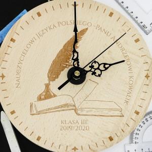na upominek dla nauczyciela zegar z grawerem dla polonisty - Quo Vadis
