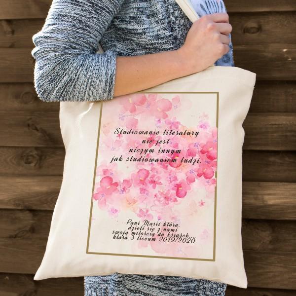 na prezent dla nauczycielki języka polskiego torba bawełniana dla nauczyciela - Epika