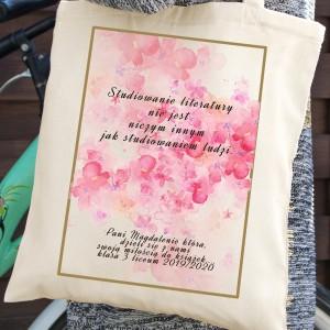 torba bawełniana dla nauczyciela - Epika na prezent dla nauczycielki polskiego