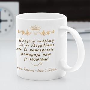 na prezent dla nauczyciela języka polskiego kubek  z nadrukiem dla nauczyciela - Skrzydła Liryki