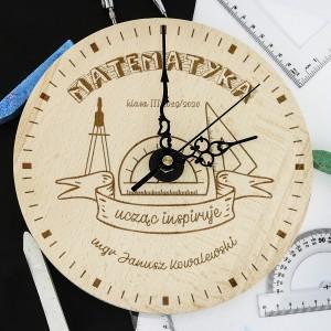 dla nauczyciela matematyki zegar z grawerem dla matematyka - Abakus