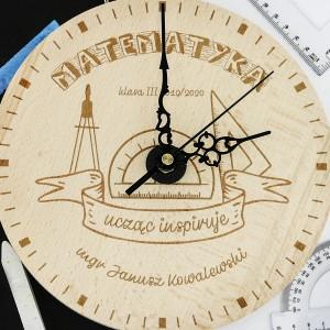 zegar z grawerem dla matematyka - Abakus na upominek dla nauczyciela matematyki