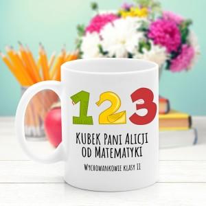 kubek z nadrukiem dla matematyka - Cyferki na prezent dla nauczycielki matematyki