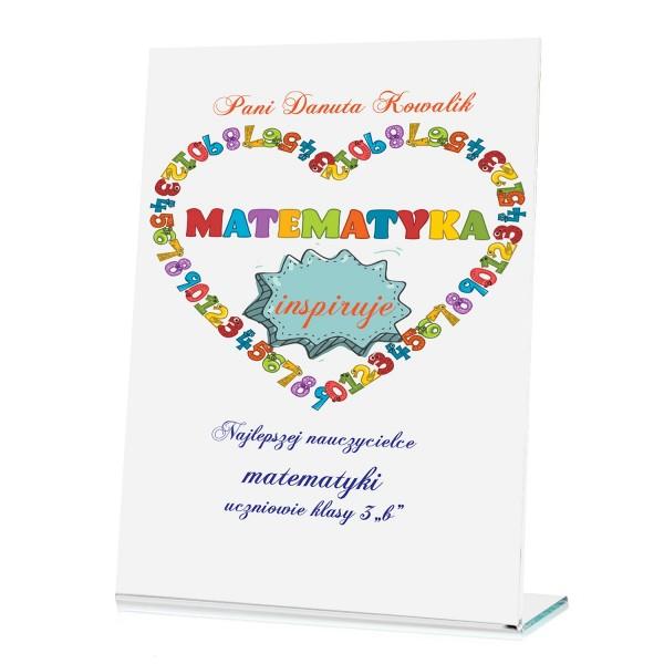 na prezent dla nauczyciela matematyki statuetka dla nauczyciela - Inspiracja
