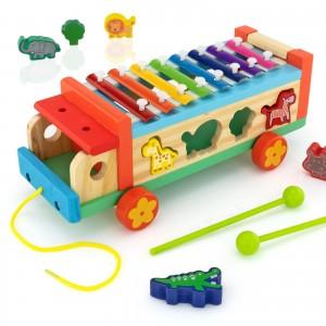 samochód cymbałki z sorterem - Muzyczne Zoo na upominek dla dziecka