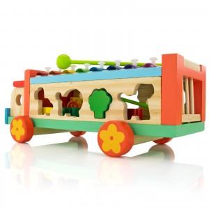 samochód cymbałki z sorterem - Muzyczne Zoo na prezent na  urodziny dla dziecka