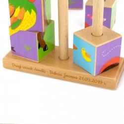 klocki z grawerem na prezent dla dziecka - Zwierzyniec na urodziny dla dziecka