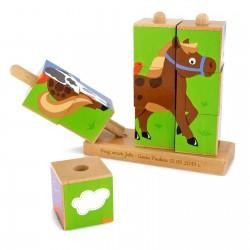 klocki z grawerem na prezent dla dziecka - Zwierzyniec na upominek urodzinowy dla dziecka