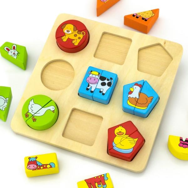 na prezent na roczek klocki logiczne z nadrukiem dla dziecka - Misiaczek