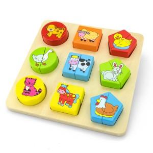 klocki logiczne z nadrukiem dla dziecka - Misiaczek na prezent na urodziny dziecka