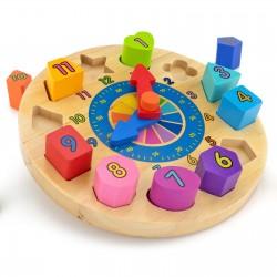 klocki puzzle z nadrukiem dla chłopczyka - Zegarmistrz na prezent dla chłopczyka na urodziny