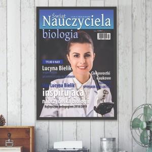 prezent dla nauczyciela biologii okładka gazety