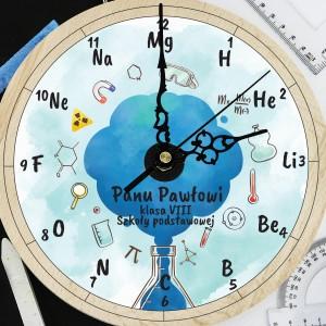personalizowany zegar z dowolną dedykacją