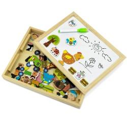 tablica edukacyjna dla dzieci - Farma na prezent na urodziny dziecka