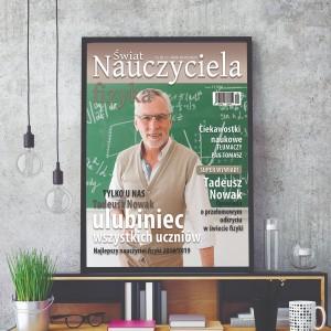 okładka magazynu z przesłanym zdjęciem fizyka na prezent na zakończenie roku szkolnego